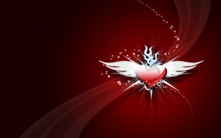 Heart with wings wallpapers and stock photos
