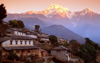Ghandrung Village wallpapers and stock photos