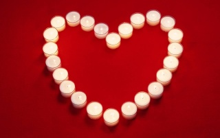 White candles heart wallpapers and stock photos