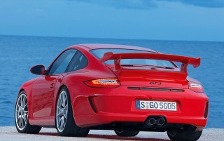 911 GT3 rear wallpapers and stock photos