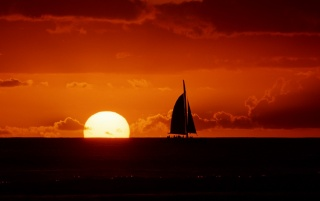 Sunset sailing wallpapers and stock photos