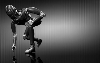 Robot reflection wallpapers and stock photos
