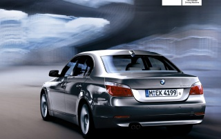 Back of BMW 530i wallpapers and stock photos