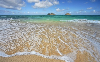 Lanikai Shoreline wallpapers and stock photos