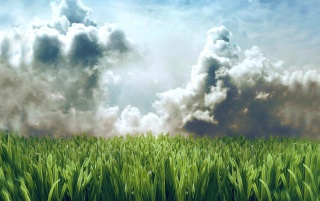 Lawn in the sky wallpapers and stock photos