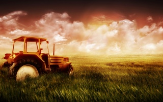 Tractor and grass wallpapers and stock photos