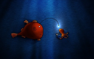 Fish and squid wallpapers and stock photos