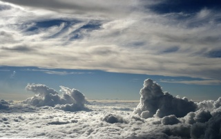 Above white clouds wallpapers and stock photos