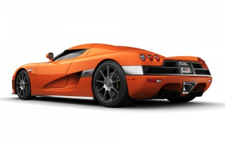 Koenigsegg rear wallpapers and stock photos