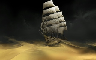 Random: Ship in the sand