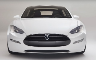 Tesla S front wallpapers and stock photos