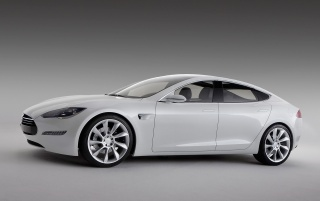 Tesla S side wallpapers and stock photos