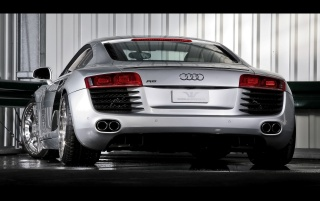 Audi R8 rear wallpapers and stock photos