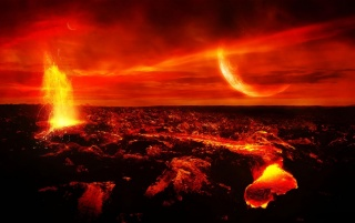 Volcano and lava wallpapers and stock photos