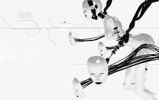 White robot wallpapers and stock photos