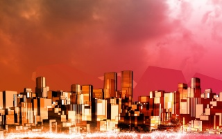 Red city wallpapers and stock photos