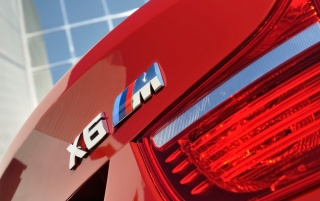 BMW X6 M badge wallpapers and stock photos