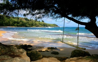 Moloa'a Beach wallpapers and stock photos