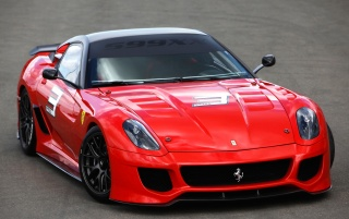 Ferrari 599XX front wallpapers and stock photos