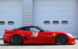 Ferrari 599XX side wallpapers and stock photos