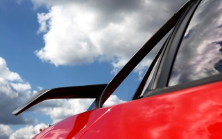 Ferrari 599XX winglet wallpapers and stock photos