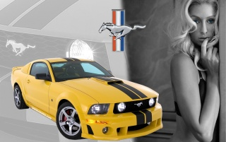 Paris Hilton Ford Mustang wallpapers and stock photos