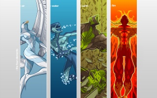The four elements wallpapers and stock photos