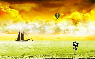Boat and baloon wallpapers and stock photos