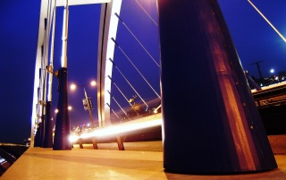 Bratislava - Apollo Bridge wallpapers and stock photos
