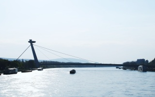 Bratislava - New Bridge wallpapers and stock photos