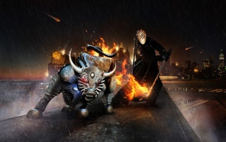 Knight and bull wallpapers and stock photos