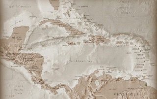 Carribean sea map wallpapers and stock photos