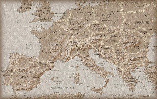 Europe old map wallpapers and stock photos