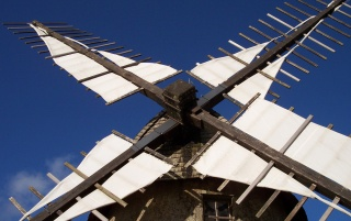 Sky and windmill wallpapers and stock photos