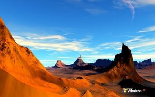 XP Alien desert wallpapers and stock photos