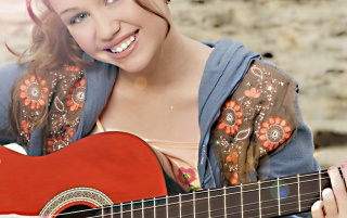 Hannah and guitar wallpapers and stock photos