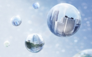 Bubble reflections wallpapers and stock photos