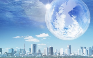 City scape and planet wallpapers and stock photos
