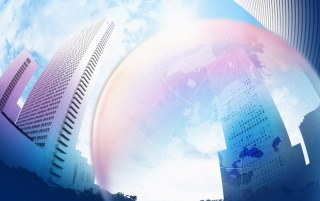 Bubble and buildings wallpapers and stock photos