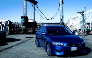 Octane Blue Lancer GTS wallpapers and stock photos