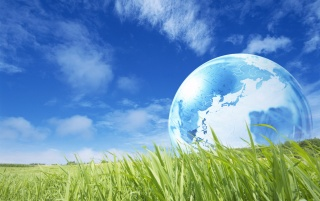 Globe and grass wallpapers and stock photos