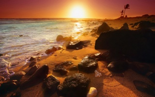 Sunset rocks wallpapers and stock photos