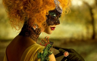 Masked woman wallpapers and stock photos