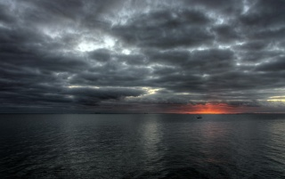 Cloudy sea wallpapers and stock photos