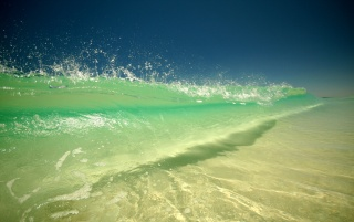 Green wave wallpapers and stock photos