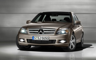 C Class front wallpapers and stock photos