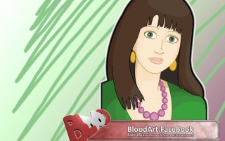 BloodArt.FaceBook ,Face05 wallpapers and stock photos