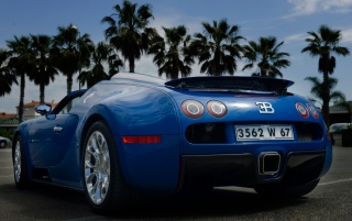 Blue Veyron rear wallpapers and stock photos