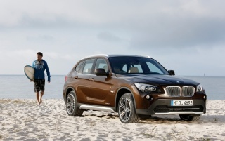 BMW X1 and surf wallpapers and stock photos