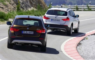 BMW X1 duo rear wallpapers and stock photos
